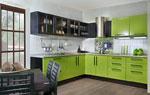 Поръчкова кухня - зелено и черно 582-2616