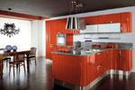 Нестандартна кухня по поръчка със заоблени ъгли 618-2616