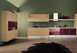 Кухня по проект в светлокафяв цвят  638-2616