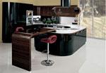 Интересен модел на кухня Мока - проект в черно и кафяво 639-2616