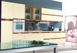 Индивидуален проект за кухня в различни нюанси на кафявото 657-2616