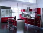 Поръчкова кухня в цвят на вишна 721-2616