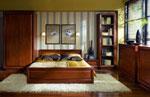Поръчкова спалня с двукрилен гардероб и библиотека за книги 187-2618