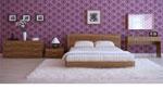 Проект за спалня с работно бюро - композия в лешников цвят