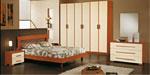 Поръчка на спалня в светло бежово и медено кафяво