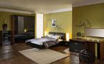 Поръчка на спалня от масивна дървесина в черно и тъмно кафяво 436-2618
