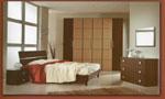 Цялостно обзавеждане за спалня в кафяво по индивидуална поръчка 44-2618