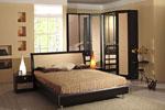 Поръчка на спалня в черно в врати от МДФ 440-2618