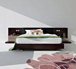 Спални мебели по поръчка с вградени нощни шкафчета с допълнителни плотове