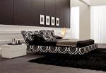 Спалня по поръчка с тапицерия с растителни мотиви