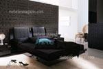 Черна спалня с тапицирана табла - подходяща за модерни интериори