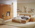 Семпла спалня по поръчка с малки полици и гардероб-секция 2 в 1 -