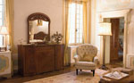 Масивен шкаф с огледало и фотьойл по индивидуален проект