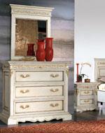 Скрин с огледало и нощен шкаф за спални в бяло по поръчка