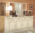 Поръчкова шкаф с огледало за спалня в цвят слонова кост