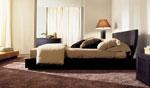 Смел дизайн на спалня по поръчка от черно дърво 83-2618