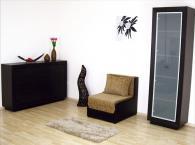 Фотьойл в черно и бежово