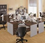 Офис обзавеждане от пдч за четири работни места