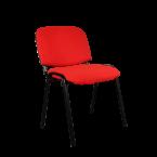 Посетителски стол червен
