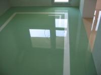 Зелена дизайнерска настилка за под