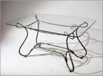 ниска масичка със стъкло от ковано желязо 3827-3171