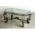 стъклена маса по поръчка от ковано желязо 3845-3171