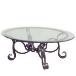 стъклена маса по поръчка от ковано желязо 3878-3171