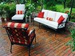 Столове и маса ковано желязо за къща