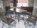 Столове и маса ковано желязо за открито