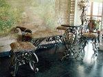 Столове и маса ковано желязо за вила
