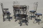 Столове и маса ковано желязо зa екстериор