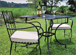 Комплект маса и столове от ковано желязо