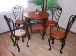 Стилни столове и маси от ковано желязо