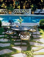 Столове и маса ковано желязо за градина