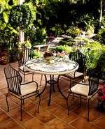 Столове и маса,произведени от ковано желязо