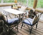 Столове и маса от ковано желязо