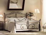 Легло от ковано желязо в черно