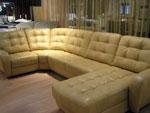 Луксозен кожен диван по поръчка