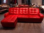 Червен кожен диван