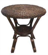 Кръгла ратанова маса