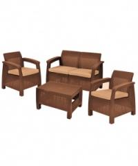 Корфу-ратан диван 2-ка в кафяво