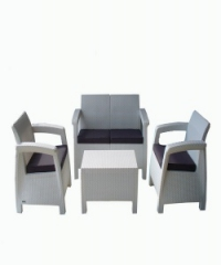 Корфу-ратан диван 2-ка в бяло