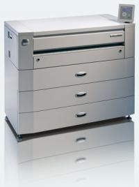 Черно-бял широкоформатен принтер