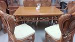 Маса със столове от естествен ратан