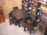 Комплект маса със столове от масив
