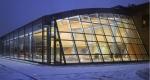 окачена стъклена фасада