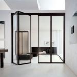 стъклени сгъваеми врати