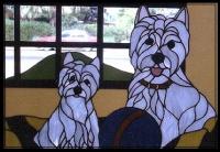 Витражи с кучета