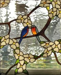 Витражи за прозорци Влюбени птици