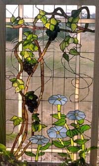 Витражни прозорци Сини цветя